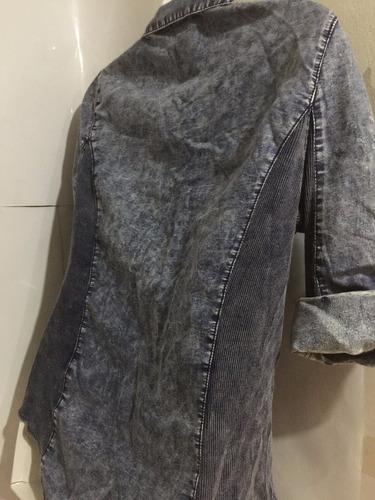blusa de jean delgado importado talla m