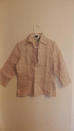 blusa de lino dama