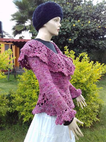 blusa de manga larga escarola