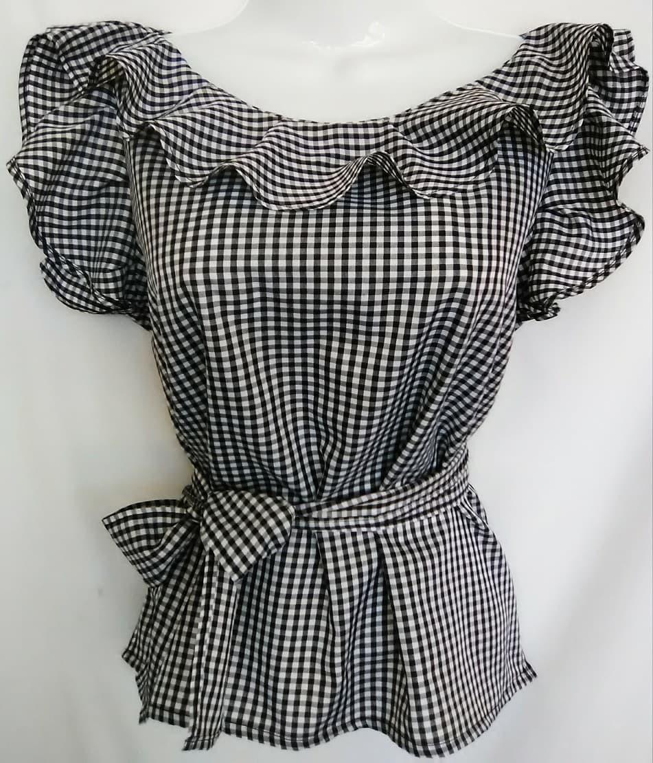 e46bb1a9acadb blusa de moda de dama en bichi a cuadros. Cargando zoom.