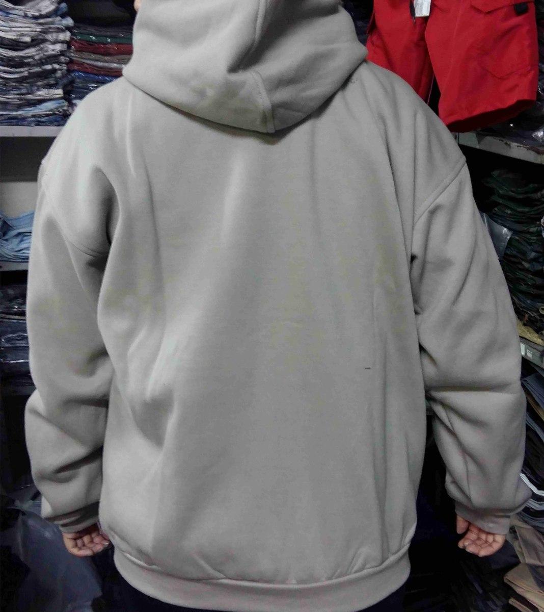 0746d336298c2 blusa de moletom flanelado ziper liso capuz bolso masculino. Carregando  zoom.