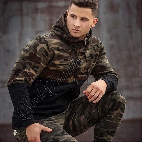 blusa de moletom masculino casaco flanelado camuflado frio