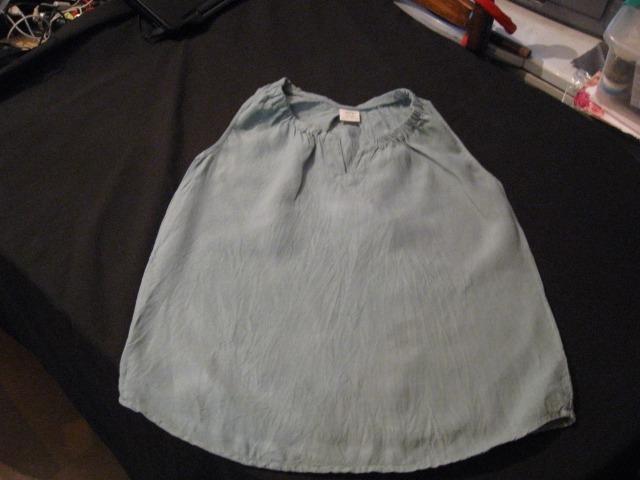 0dfb63e62 Blusa De Mujer Sin Mangas 100% Lino D96p Color Verde Talla M ...