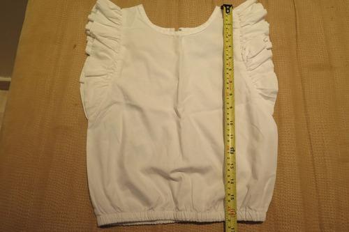 blusa de niña blanca talla 6 epk