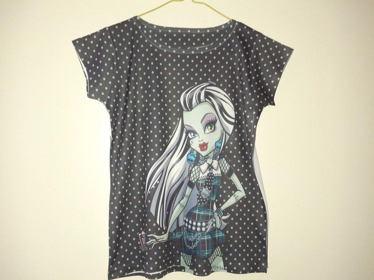 13238d666 blusa de niña talla de 8 a 10 años, monster high manga corta. Cargando zoom.