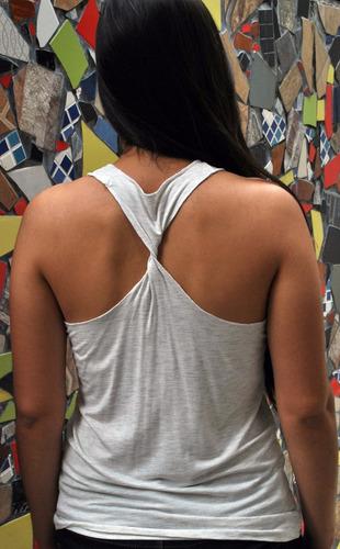 blusa de tirantes en tela orgánica de bambú