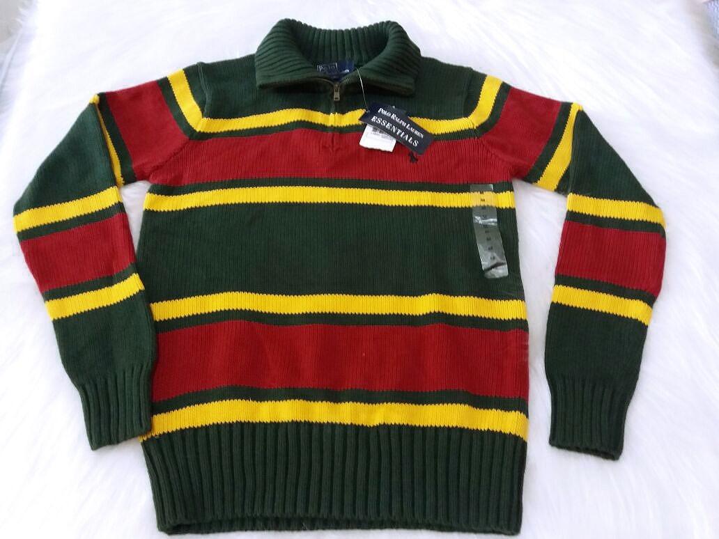 6222df60515e0 blusa de trico infantil masculina polo ralph lauren - tam m. Carregando  zoom.