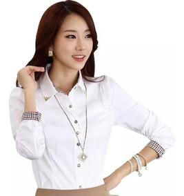 Blusa De Vestir Con Botones Decorados No Incluye Collar