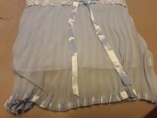 blusa de vestir plisada en chifon y blonda para damas