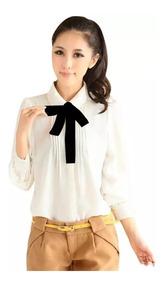Blusa De Vestircasual Con Moño Desmontable