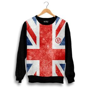 e53329b0c9 Blusa Dep Bandeira Inglaterra Azul   Vermelha