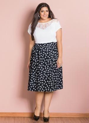a50e68722 Blusa Detalhe Renda Branca Plus Size - R$ 59,90 em Mercado Livre
