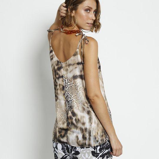 c81126d32 Blusa Dimy Animal Print Blogueira/instagram Oferta! - R$ 92,00 em ...