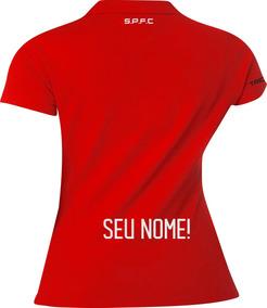 1ae0f54496 Blusa Do São Paulo Feminina Camisa Polo Torcedora Com Nome