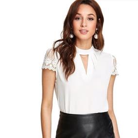 5fa408f0f665 Blusa Elegante Blanca Tallas Xs S M Encaje Nueva En Stock