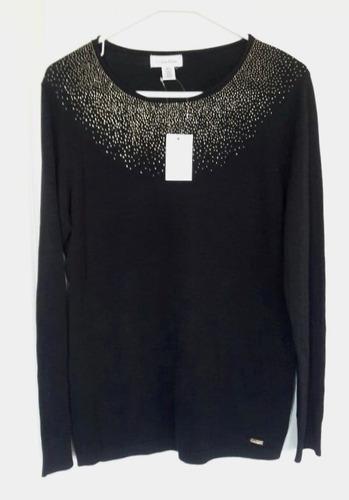 blusa elegante  calvin klein manga larga talla m