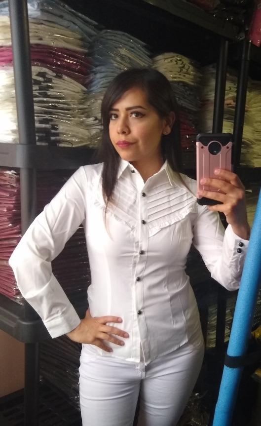 2f1ed97f13400 Blusa Elegante Slim Fit Con Olanes Pequeños Para Dama -   449.00 en ...