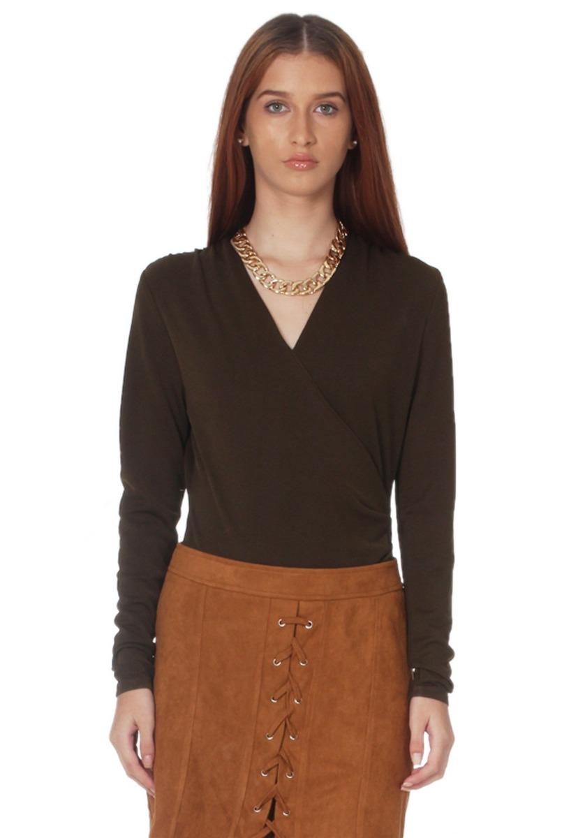 80f1edf829561 blusa escote cruzado de mujer aishop aw171-1102-930 verde. Cargando zoom.