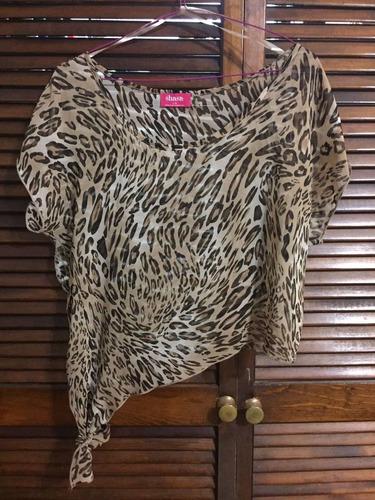 blusa estampada animal print talla grande