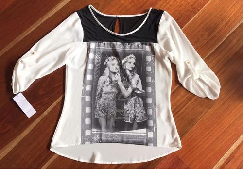 blusa estampada studio f
