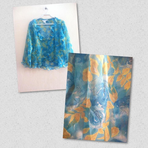 blusa estampada transparente cdc talla 12