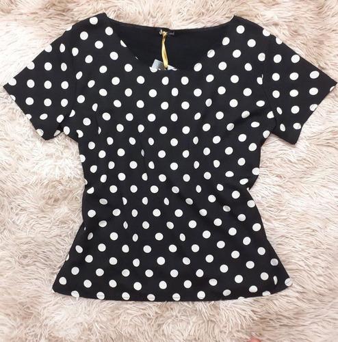 blusa fashion blusinha poá moda feminina evangelica