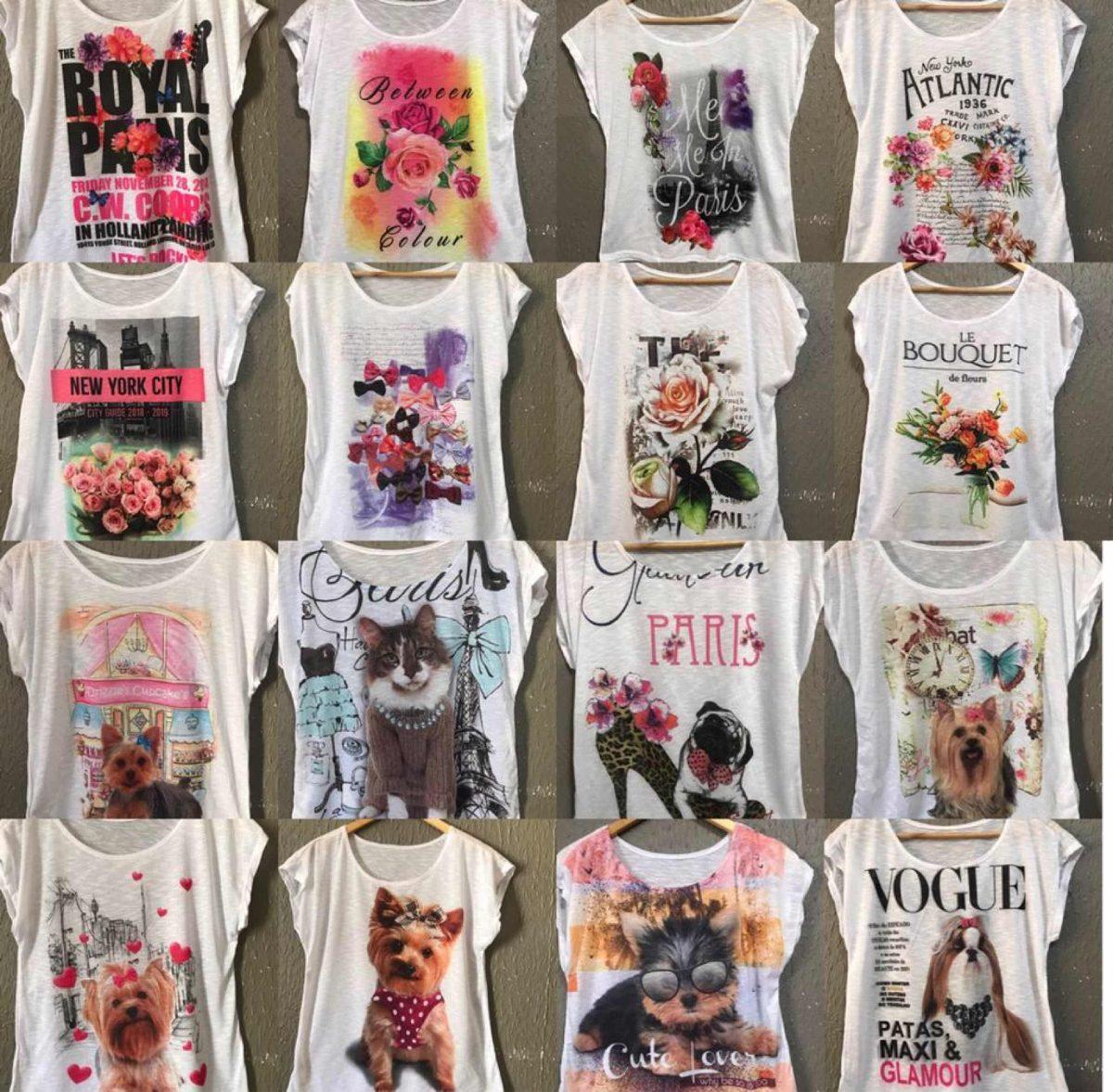 38799ba91f blusa feminina atacado revenda kit tshirt 13 variadas. Carregando zoom.