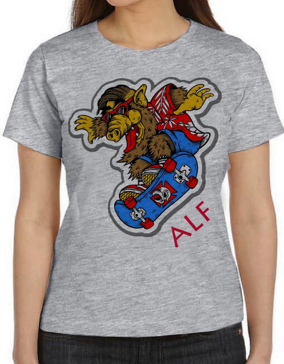 blusa feminina baby look camiseta alf skate et teimoso alien. Carregando  zoom. 693075fe688