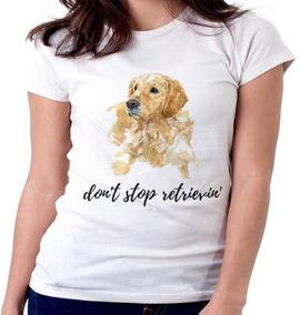 c4f88f5836 Blusa Feminina Baby Look Don t Stop Retrievin  Cachorro Gold