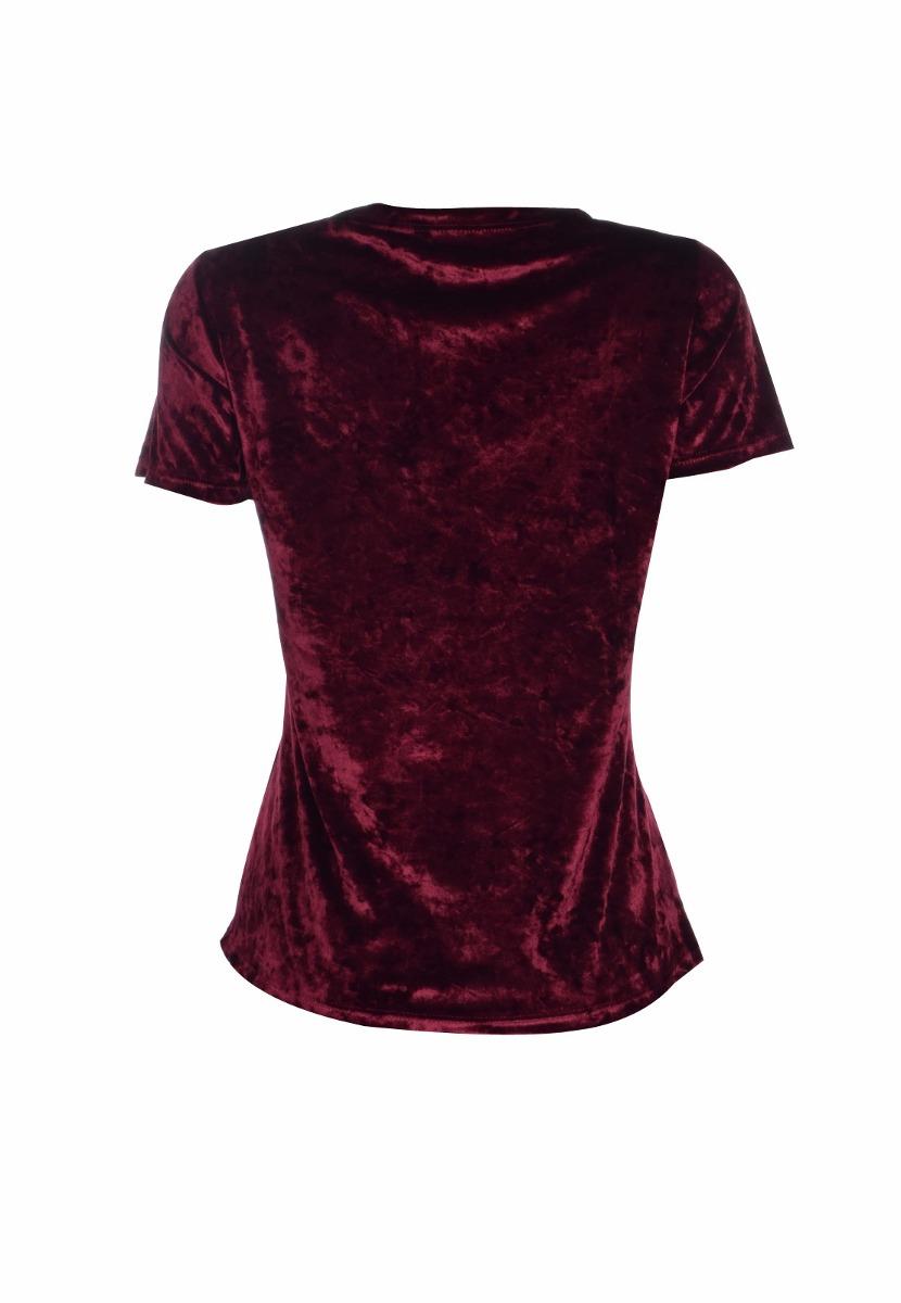 8125fa2284 blusa feminina básica manga curta veludo molhado estampada. Carregando zoom.