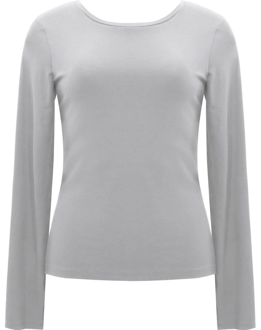 c0d51a6844 blusa feminina básica manga longa em viscose seiki preto 130. Carregando  zoom.