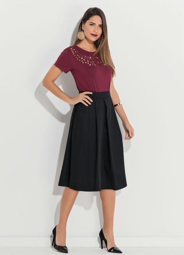 9a84663933 blusa feminina bordô em malha moda evangélica plus size. Carregando zoom.
