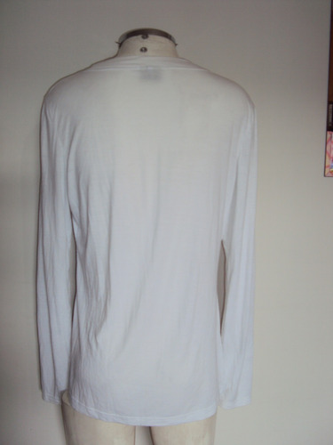 blusa feminina branca malha fria anne classic tamanho g