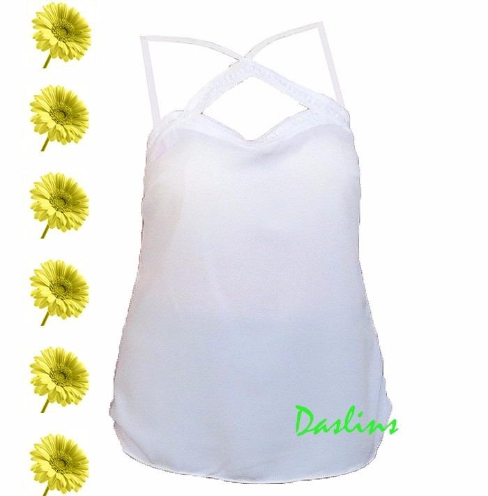 1df8082980 Blusa Feminina Branca Regata Tamanho Grande - R  40