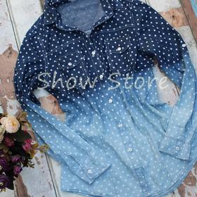 Blusa Feminina Camisa Jeans Importada Manga Inverno 2508