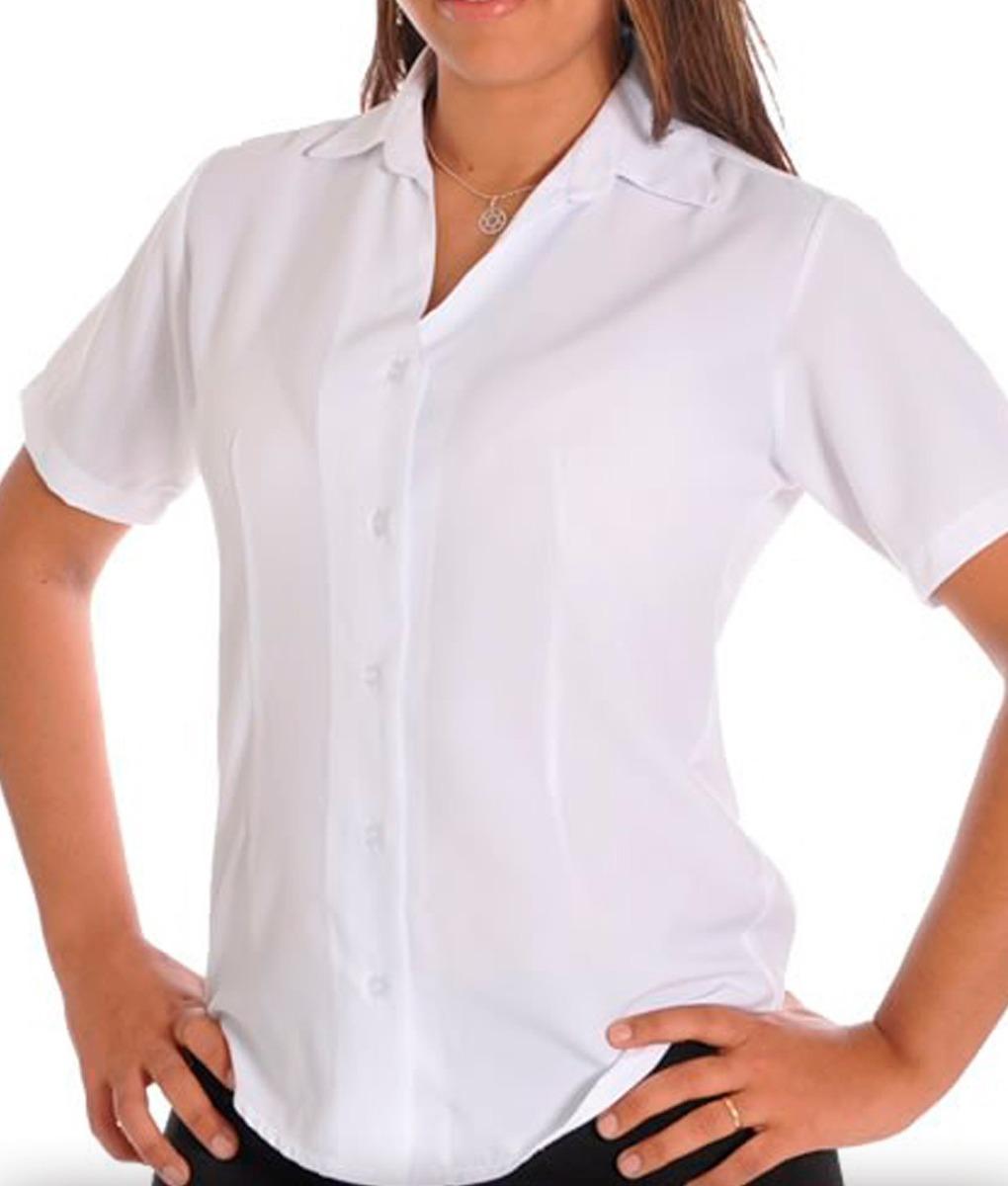 blusa feminina camisete social preço branco manga curta kit7. Carregando  zoom. 8d91c6ab4f35d