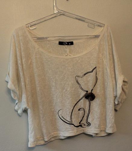 blusa feminina curta - tam: g - c.336