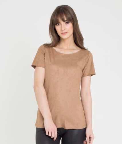 d5d2ba169 Blusa Feminina De Suede Marrom - R$ 70,00 em Mercado Livre