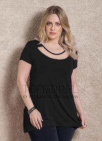 5f16be845f Blusa Decote Tule - Blusas Feminino no Mercado Livre Brasil