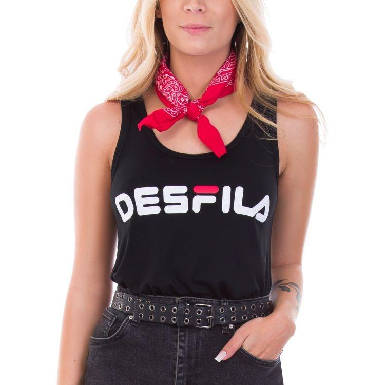 295b745ba0 Blusa Feminina Desfila Regata - R  37