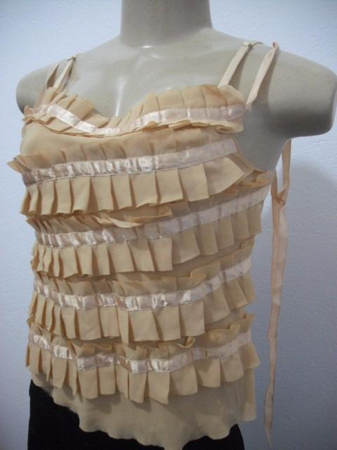 8c4613d23f Blusa Feminina Dourada Com Babados Tam M Usado Bom Estado Mp - R  26 ...