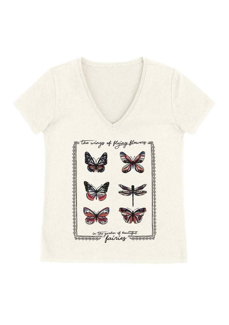 52c62246e blusa feminina em malha de algodão estampada hering 4eqb. Carregando zoom.