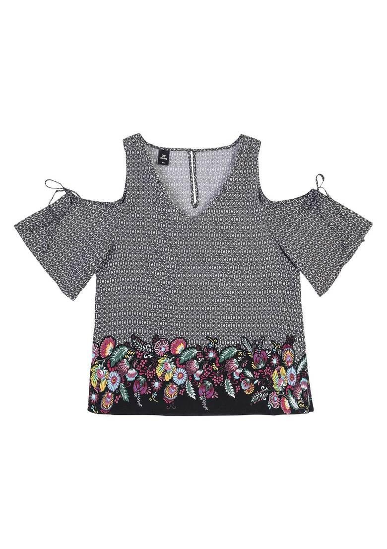 0800fbbe20 blusa feminina em tecido de viscose estampada hering. Carregando zoom.