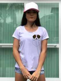 f7135fdf4 Camiseta Bolso Estampado Feminina - Calçados, Roupas e Bolsas no Mercado  Livre Brasil