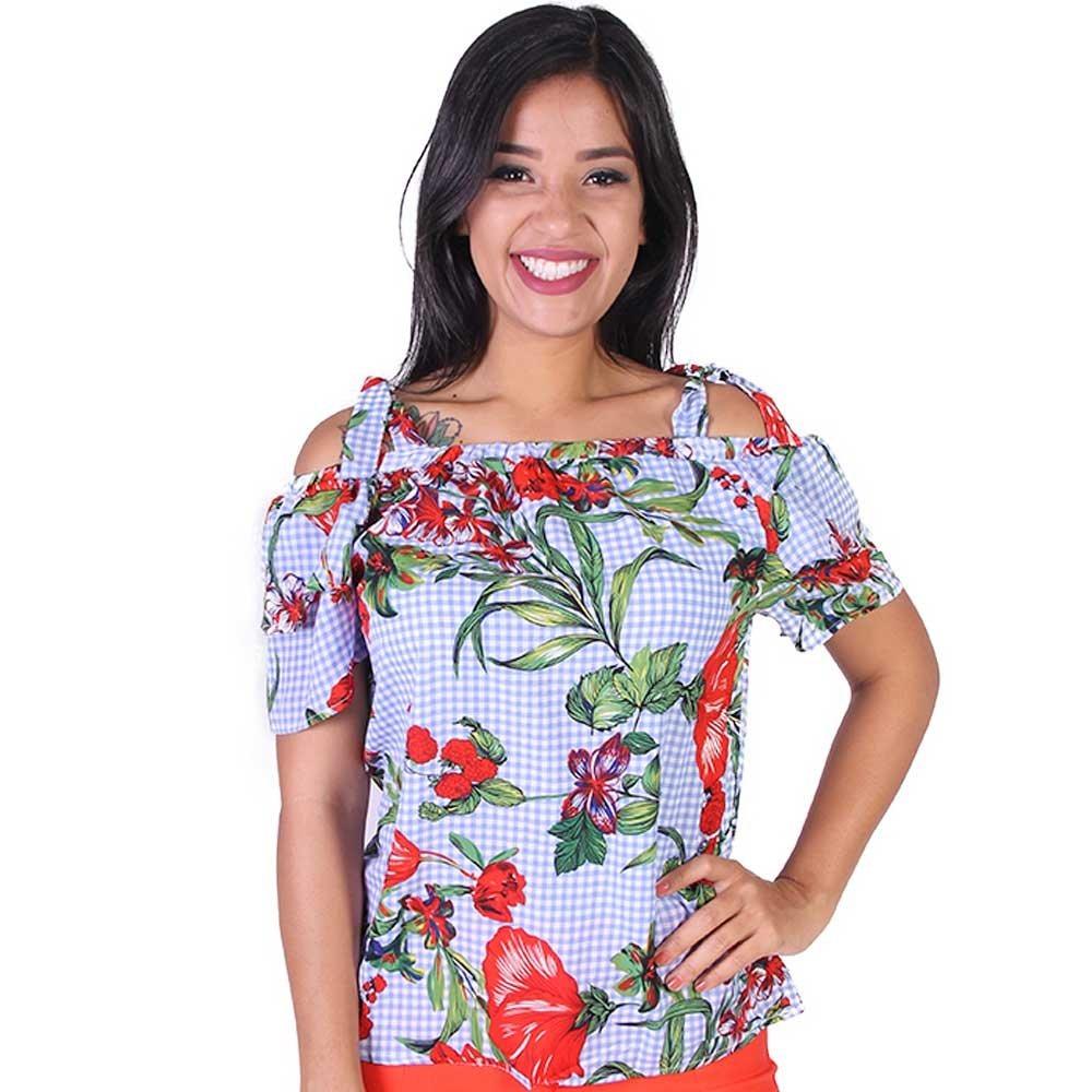 a66805ff2488 blusa feminina estampada emely fash - asya fashion. Carregando zoom.
