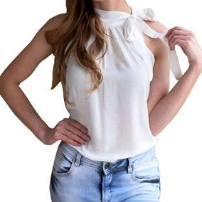 17b0e63238d81 Blusa Feminina Social Com Gola E Laço - Calçados, Roupas e Bolsas com o  Melhores Preços no Mercado Livre Brasil