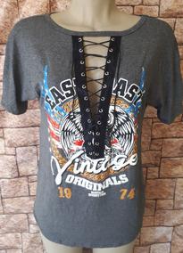 dd3991436 Blusa Decote Ilhos - Blusas Femininas Curta com o Melhores Preços no ...