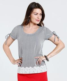 0dc21e2c1 Blusa Listrada Marisa - Camisetas e Blusas no Mercado Livre Brasil