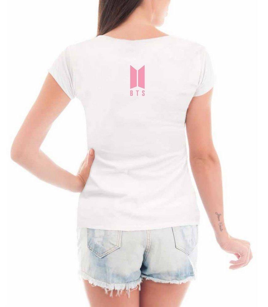 74eece1774 blusa feminina love yourself kpop bts álbum tshirt camiseta. Carregando  zoom.