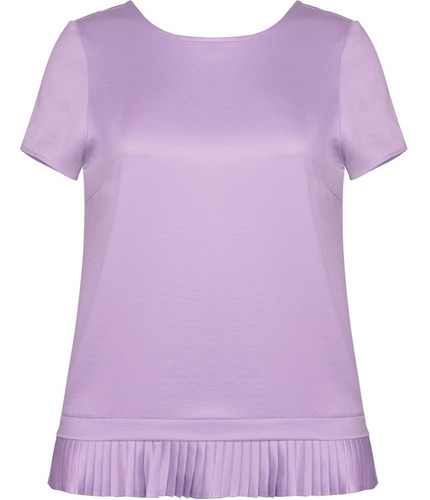blusa feminina manga curta c/babado camisa camiseta blusinha